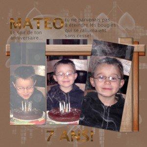 Matéo a 7 ans!